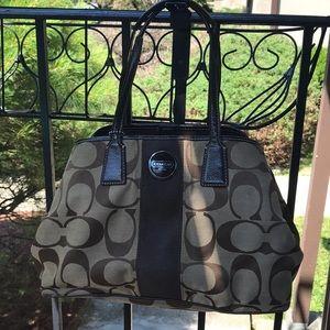 Coach bag. Used. Brown and tan